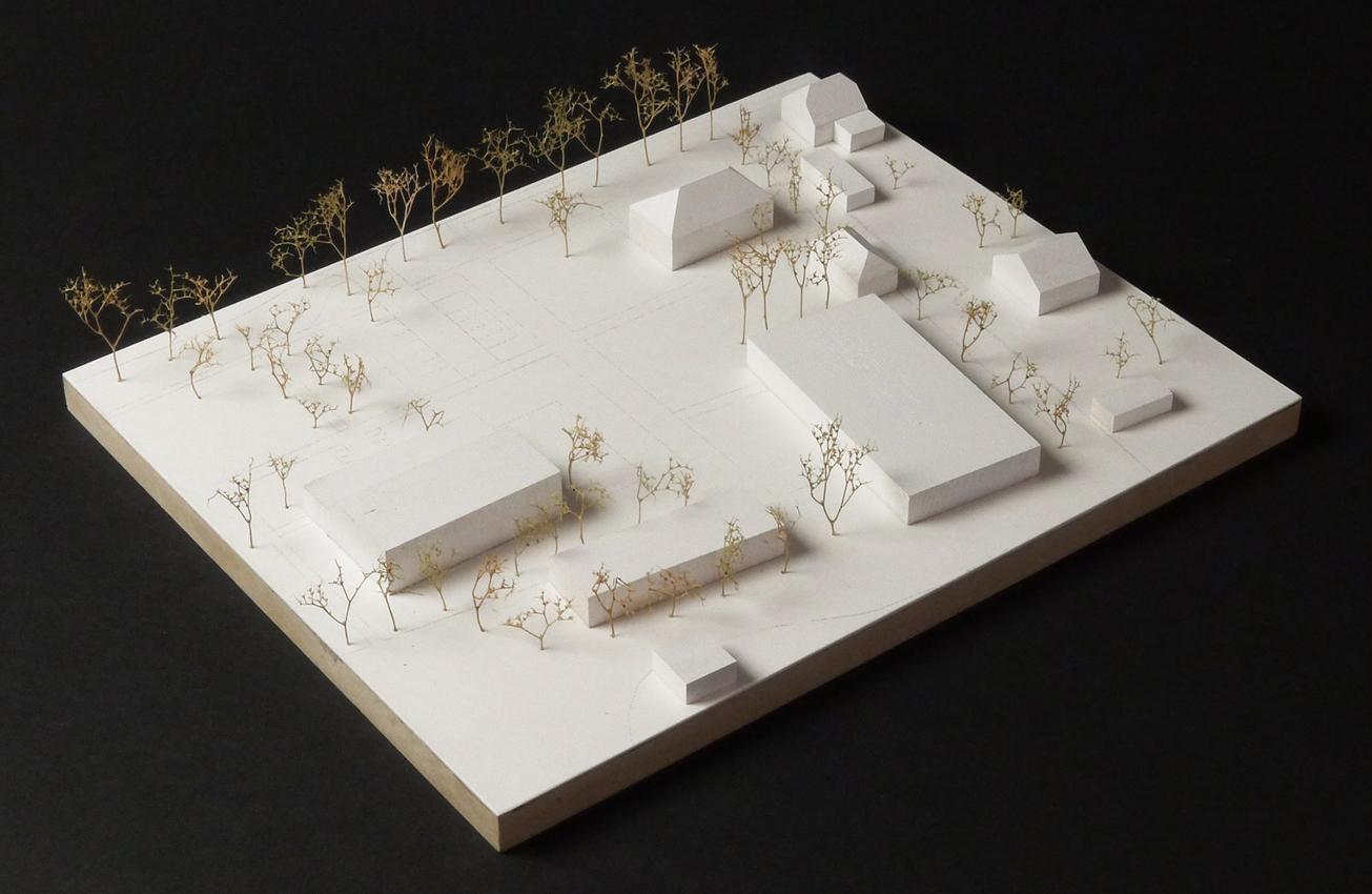 KO-OK_Architektur_Leipzig_Stuttgart_Wettbewerb_erster Preis_Sportgebäude Kegelbahn_Wülknitz_Modell